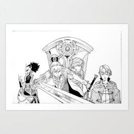 Fire Emblem Awakening Ink  Art Print