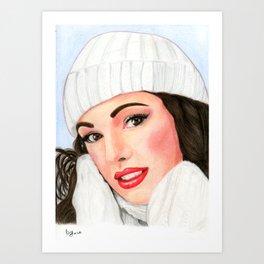 Bianca come la neve Art Print