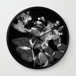 X Ray Blooms Wall Clock
