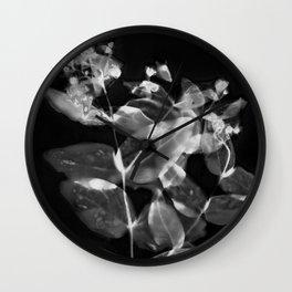 X Ray Blooms Wall Clock