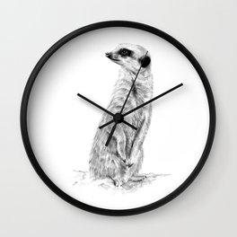 Meerkat in Charge Wall Clock
