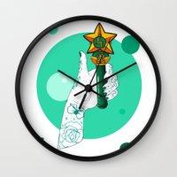 sailor jupiter Wall Clocks featuring Jupiter by scoobtoobins