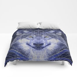 Wolf Geometry Comforters