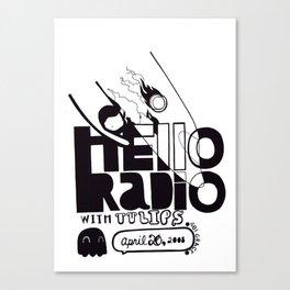 Hello Radio Canvas Print