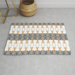 Simplistic flowers with art deco flavor  Rug
