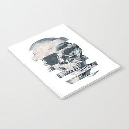 Glitch Skull Mono Notebook