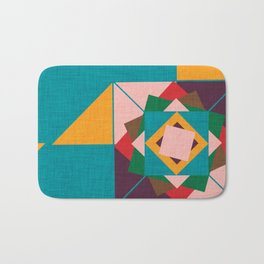 wind rose teal Bath Mat