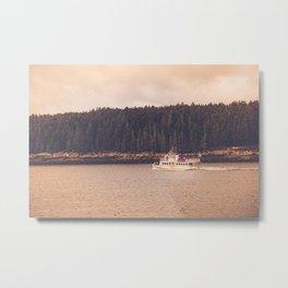 Ferry to Monhegan Island Metal Print