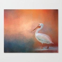 Pelican Walk Canvas Print
