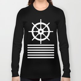 AFE Navy & White Helm Wheel Long Sleeve T-shirt