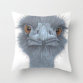 The Blue Emu Throw Pillow