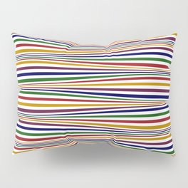 Wavy Stripes in Jewel Tones on White Pillow Sham