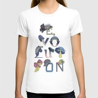 hats T-shirts featuring Evolution / Hats by Katia Engell Illustration