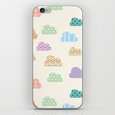 Colorful clouds iPhone Skin