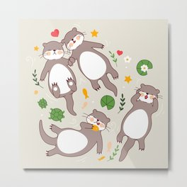 Significant otters Metal Print