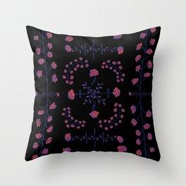 native rose garden Throw Pillow