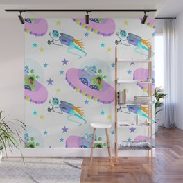 Outerspace Traffic Jam Wall Mural