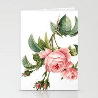 botanical Stationery Cards featuring Botanical by Goga Alexandra