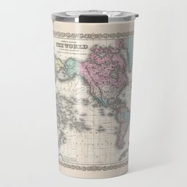 1855 Colton Map of the World on Mercator Projection Travel Mug