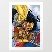 superheros Art Prints featuring Super Croslands by Geninne John-Crosland