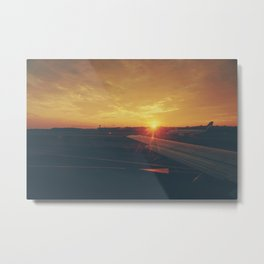 sun goes down Metal Print