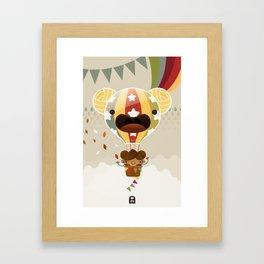 Chestnut Girl Balloon!!! Framed Art Print