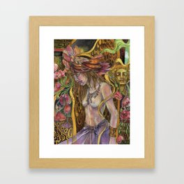Dreams Bloom in the Night Framed Art Print