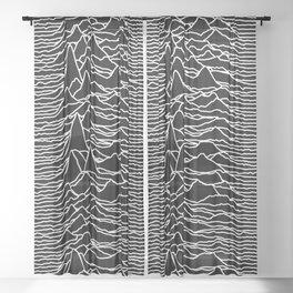 Joy Division - Unknown Pleasures Sheer Curtain