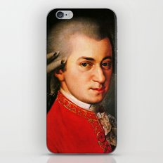 Wolfgang Amadeus Mozart portrait iPhone & iPod Skin