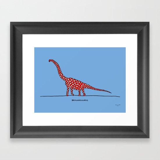 brachiosaurus Framed Art Print
