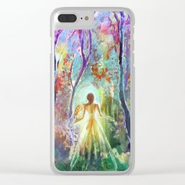 Dance of the Changing Leaves Clear iPhone Case