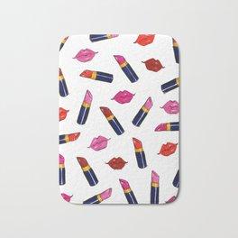 Lips & Lipsticks Bath Mat