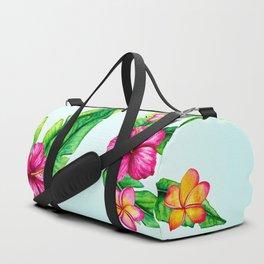 Love, Tropical Word Art Duffle Bag