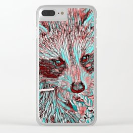 ColorMix Raccoon Clear iPhone Case