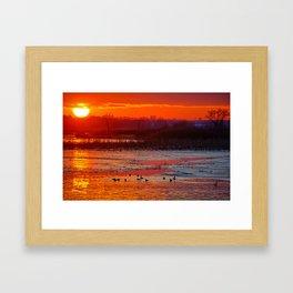 Duck Hole 2 Framed Art Print