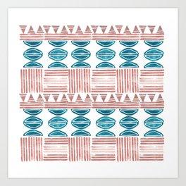 Blush and Blue Art Print