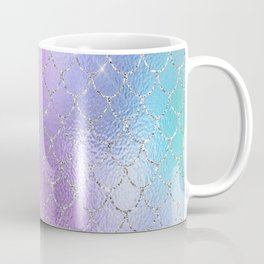 Mermaid Scales Pastel Sparkle, Glitter, Iridescent, Purple and Teal Mermaid Decor Coffee Mug