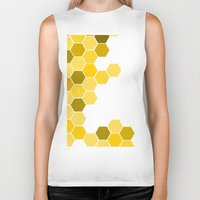 honeycomb Biker Tanks featuring Honeycomb by KelC