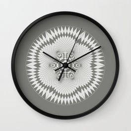 flower of life, alien crop formation, sacred geometry Wall Clock