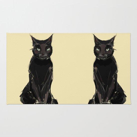 Black Cat Rug By Jaleesa McLean