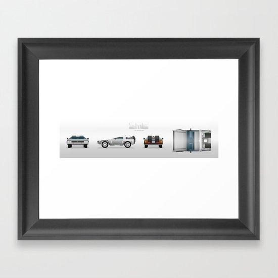 DMC: The Time Machine Framed Art Print