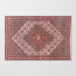 Sehna Antique Kurdish Persian Tribal Rug Canvas Print