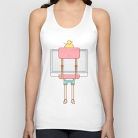 backpack Tank Tops featuring imac backpack by molly ennis