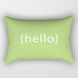 {Hello} postcard Rectangular Pillow