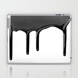 Black paint drip Laptop & iPad Skin