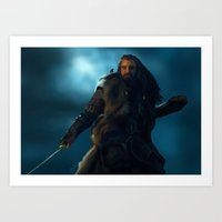 thorin Art Prints featuring Thorin by Stephanie Miles