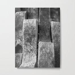 Wavy wood Metal Print