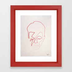 One line Aladdin Sane Framed Art Print