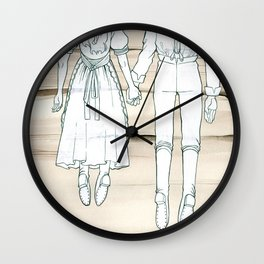 We Both Go Down Together Wall Clock
