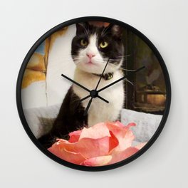 Orazio the charming cat Wall Clock